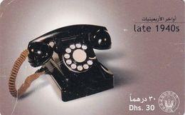 U.A.E.(chip) - Old Telephone(1940s), Used - Téléphones
