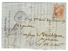 FRANCE 1866: LAC De Napoléonville (Morbihan) Pour Vaublane (CDN) Avec Y&T 23 Obl. GC 2609 (Ind.3) - 1862 Napoleon III