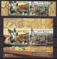 Bosnia And Herzegovina 2020 Europa CEPT Ancient Postal Routes Carrier Pigeon Fauna Istanbul Turkey, Set + Block MNH - Europa-CEPT