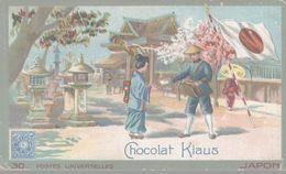 CHROMO  CHOCOLAT KLAUS  POSTES UNIVERSELLES JAPON - Altri