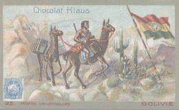 CHROMO  CHOCOLAT KLAUS  POSTES UNIVERSELLES  BOLIVIE - Altri