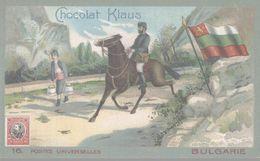 CHROMO  CHOCOLAT KLAUS  POSTES UNIVERSELLES  BULGARIE - Andere
