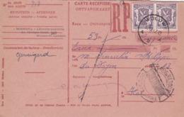 Carte Récépissé Roulette Refusé Ontvangkaart 714 - Belgium
