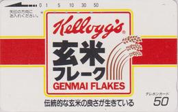 Télécarte Ancienne JAPON / 110-011 - KELLOGG'S CORN FLAKES & Blé -  Food JAPAN Phonecard - 33 - Alimentación