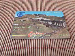 St Kits & Nevis  10 $ Phonecard 3CSKA Used Rare - Saint Kitts & Nevis