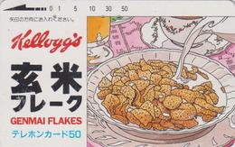 Télécarte Ancienne JAPON / 110-011 - KELLOGG'S CORN FLAKES  - Lait Milk - FOOD JAPAN Phonecard - 34 - Alimentación