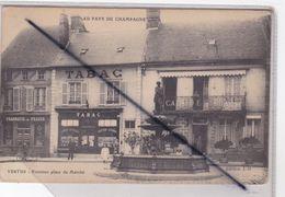 Vertus (51) Fontaine Place Du Marché (Commerces : Pharmacie,Tabac, Café) - Vertus