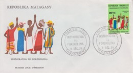 Enveloppe  FDC  1er Jour    MADAGASCAR    Instauration  Du   FOKONOLONA   1974 - Madagaskar (1960-...)
