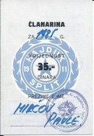 Membership Card DO000215 - Football (Soccer Calcio) Croatia Hrvatska Hajduk Split 1985 - Documenti Storici