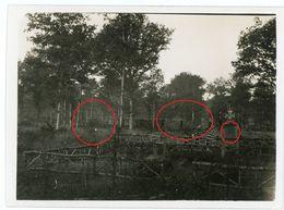 Cimentiere Panzerzug Eisenbahngeschütz  Kanone 17-cm Samuel LOKOMOTIVE Argonnen? -guerre 14/18-WWI Photo Allemande - 1914-18