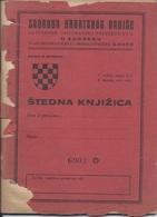 Document DO000218 - Bank Book Zadruga Hrvatskog Radise Zagreb Croatia Yugoslavia - Documenti Storici