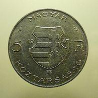 Hungary 5 Forint 1947 Silver - Hungría