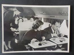 Aviation Sabena CP Repas à Bord Hôtesse De L' Air - Publicités