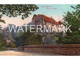 NURNBERG BURG VON WESTEN OLD COLOUR POSTCARD GERMANY - Nuernberg