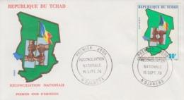 Enveloppe  FDC  1er  Jour    TCHAD      Reconciliation   Nationale     1976 - Tschad (1960-...)