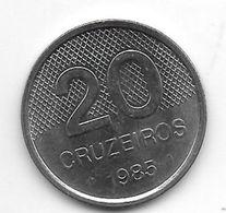 *brazil 20 Cruzeiros  1985  Km 593.2   Xf+ - Brazil
