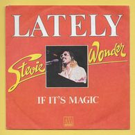 Disque Vinyle 45 Tours : STEVIE WONDER :  LATELY..Scan A : Voir 2 Scans - Vinyl Records