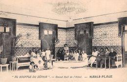 "CPA - Tunsie, EL MARSA - MARSA-PLAGE ""Au Souffle Du Zéphir"" - Grand Hall De L'Hôtel - Tunisia"