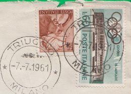 Busta. Annullo. Francobollo. Timbro. Affrancatura. Storia Postale. Raccomandata. Triuggio - 6. 1946-.. Republic