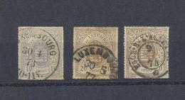 Luxembourg 17 - 19 A-19 Obl. En Très Bon état  Voir Verso - 1859-1880 Armoiries
