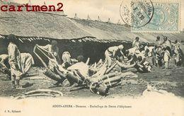 ADDIS-ABEBA DOUANE EMBALLAGE DE DENTS D'ELEPHANTS IVOIRE BRACONNAGE ETHIOPIA IVORY ETHIOPIE - Ethiopie