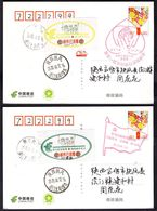 CHINA FuFeng COVID-19 Disinfected Lables,2 Color, RARE (see Description) - Enfermedades