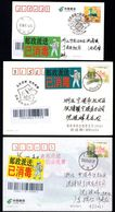 CHINA NingBo COVID-19 Disinfected Postal Delivery Lables,3 Color, RARE (see Description) - Enfermedades
