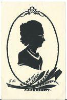 654 Lady & Gentleman Initials F. K. 12x18 Cm - Siluette