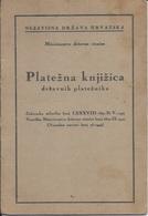 Document DO000220 - WW2 Fascism Nazism NDH Zagreb Croatia Pay Book 1942 - Documenti Storici