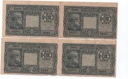 ITALIE- 1944 - 10 Lires  4 Billets Numéros A La Suite ( 962910 A 913 ) Circulés - Italia – 10 Lire