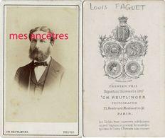CDV  Vers 1870-personnalité Louis FAGUET Par Reutlinger - Old (before 1900)