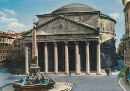 Tarjeta Postal.  Italia. Roma. El  Panteón. Condición Media. - Monuments