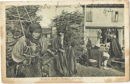 DONNE DI VALONA (Albanie) Transport Du Bois Gros Plan Animation - Albanie