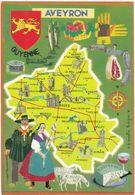 AVEYRON : Carte Géographique Du Département ( C.p.s.m. - Grand Format ) - Otros Municipios