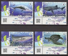 THAILAND 2019 - WWF, Marine Life - Set MNH - Thailand