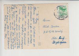 "Bosnia - Serbia TPO 201 ""ZVORNIK - BEOGRAD"" Railway Cancelation Postcard Sabac - 1945-1992 Repubblica Socialista Federale Di Jugoslavia"