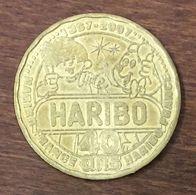 30 UZÈS BONBON HARIBO N°2 40 ANS MEDAILLE TOURISTIQUE MONNAIE DE PARIS 2007 JETON MEDALS COINS TOKENS - 2007