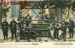 SALONIQUE VUE DE QUELQUES POMPIERS GRECE GREECE TURQUIE TURKEY 1900 G. BADER FIREMEN SAPEURS-POMPIERS - Grecia