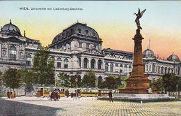 AK Wien - Universität Mit Liebenberg-Denkmal - Ca. 1910 (51192) - Ringstrasse
