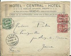 SUISSE - Lettre Au Départ De BERN - Entête HOTEL CENTRAL GENÈVE - 1882-1906 Armoiries, Helvetia Debout & UPU