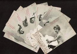 Série 10 Cartes - 1903 - Ombromanie - Silhouettisme - Ombres Chinoises - Animaux - Edit A. Bergeret & Cie Nancy -5 Scans - Siluette