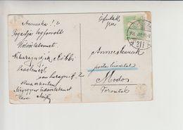 "Delvidek Serbia TPO 211 ""UJVIDEK - BAJA"" Railway Cancelation 1911 Sombor Zombor Postcard - Covers & Documents"