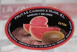UNE  ETIQUETTE DE FRUITS   - SPAIN - Fruits & Vegetables