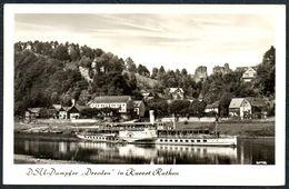 D0470 - Dampfer DSU - Salondampfer Dresden - Rathen - W. Kenne - Ferries