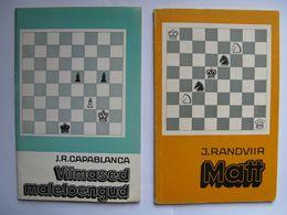 Chess Capablanca Recent Chess Lectures Matt By Randviir Set Of 2 Books - Libri, Riviste, Fumetti