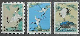 CHINA PRC S48 1962 Complète Set ** Scott #612-614 Red-Crowned Cranes 3v MNH - 1949 - ... Repubblica Popolare