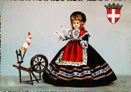 CPSM   Poupée Doll Savoie Tarantaise   Rouet - Carte Postale Card - Poupées