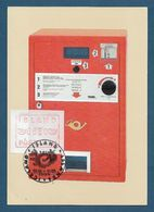 Island 1984 , ATM ,  Maximum Card - Day Of Issue  5.Internationale Briefmarken-Messe 26.-31. Mai 1984 - Cartoline Maximum