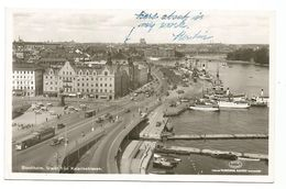 XW 3100 Stockholm - Utsikt Fran Katarinahissen - Tram - Barche Boats Bateaux / Non Viaggiata - Suède