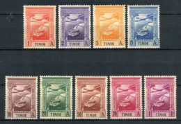 Timor 1938. Yvert A 1-9 (ref 1) See Two Images ** MNH. - Timor